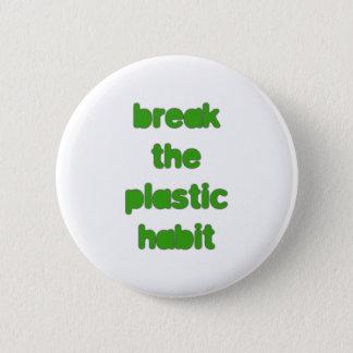 Plastic Pinback Button