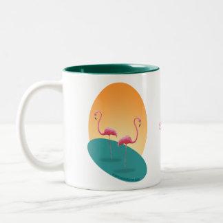 Plastic Pink Flamingos Mug