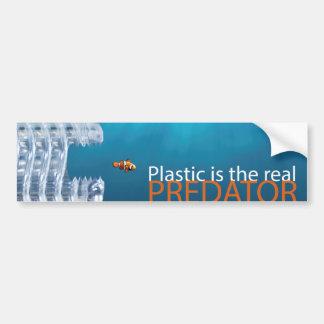 Plastic Predator Bumper Sticker