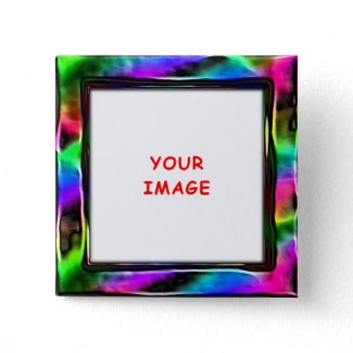 Plastic Rainbow Button button