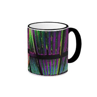 Plastic Roof Abstract Purple Photo Ringer Coffee Mug
