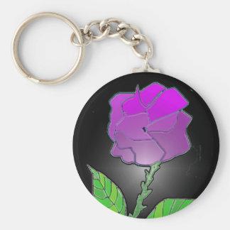 Plastic Rose Keychain