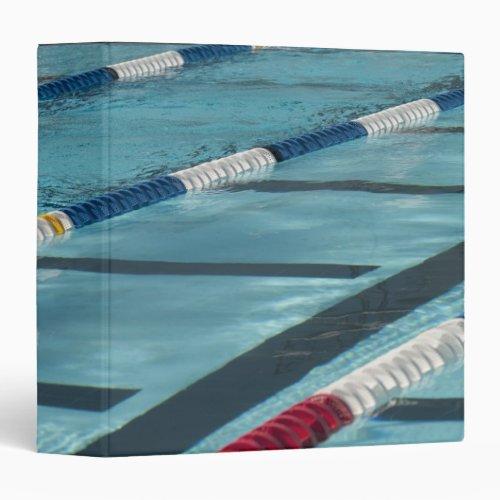 Plastic separators in a swimming pool creating binder