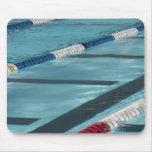 Plastic separators in a swimming pool creating mousepad