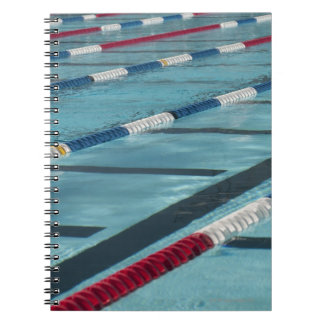 Plastic separators in a swimming pool creating note books