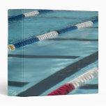 Plastic separators in a swimming pool creating vinyl binder