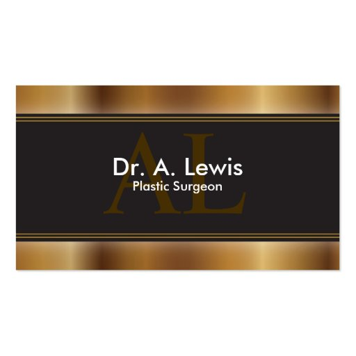 Plastic Surgeon Business Card - Monogram