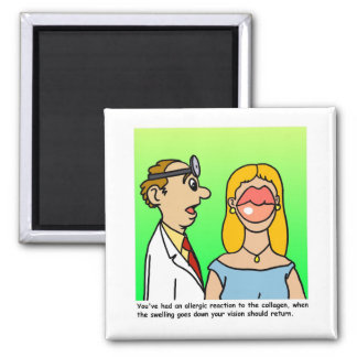 Plastic Surgeon Cartoon Magnet