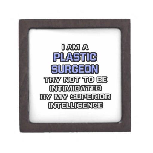 Plastic Surgeon Joke ... Superior Intelligence Premium Keepsake Box