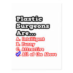 Plastic Surgeon Quiz...All Of The Above Post Card