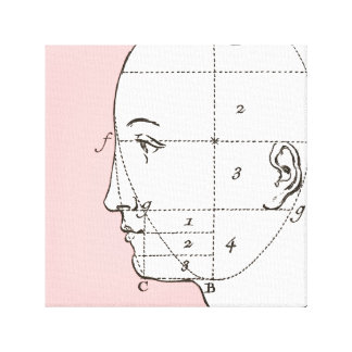 Plastic Surgeon's Office Art Vintage Elegant Face Gallery Wrap Canvas