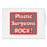 Plastic Surgeons Rock! Card