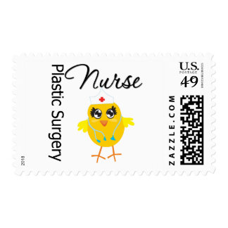 Plastic Surgery Nurse Chick v1 Postage Stamps