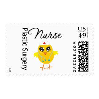 Plastic Surgery Nurse Chick v1 Postage Stamp
