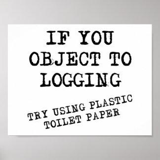 Plastic Toilet Paper Funny Poster