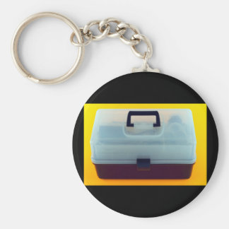 Plastic Tool Box Basic Round Button Keychain
