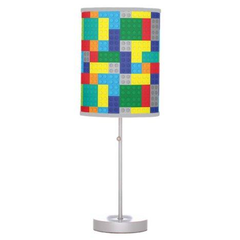 Plastic Toy Bricks Building Blocks Table Lamp