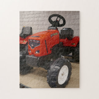 Plastic, toy push tractor. jigsaw puzzle