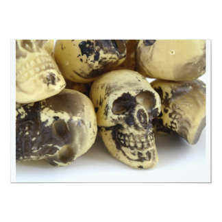 Plastic Toy Skulls Card