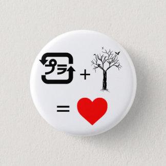 Plastic + Tree = heart Button