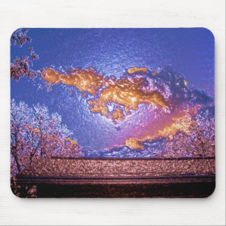 plastic wrap sky mouse pad