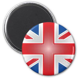 Plastic Wrap Union Jack 2 Inch Round Magnet