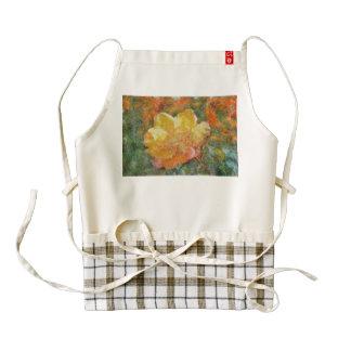 Plastic yellow rose zazzle HEART apron