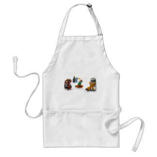 plasticine little people adult apron