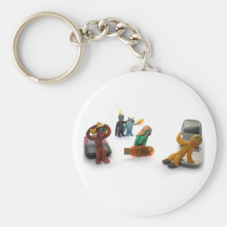 plasticine little people keychain