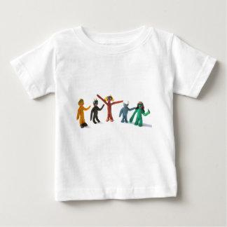 plasticine people figures saying hi baby T-Shirt