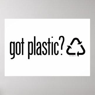 ¿plástico conseguido? Reciclaje de la muestra Impresiones