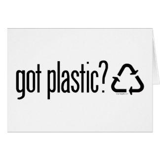 ¿plástico conseguido? Reciclaje de la muestra Tarjeton