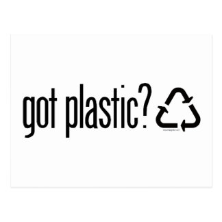 ¿plástico conseguido? Reciclaje de la muestra Tarjetas Postales