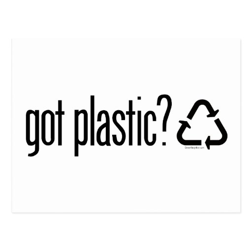 ¿plástico conseguido? Reciclaje de la muestra Tarjeta Postal