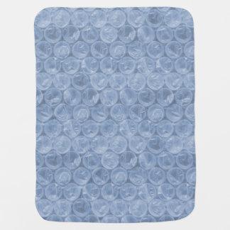 Plástico de burbujas azul claro mantas de bebé