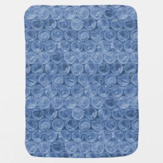 Plástico de burbujas azul mantitas para bebé