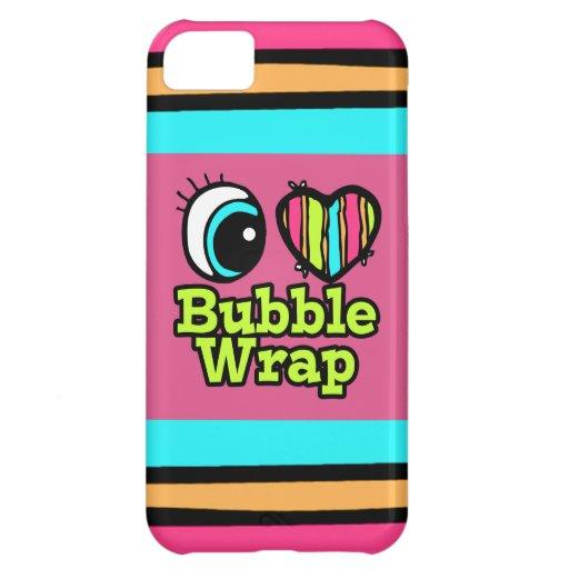 Plástico de burbujas brillante del amor del corazó funda para iPhone 5C