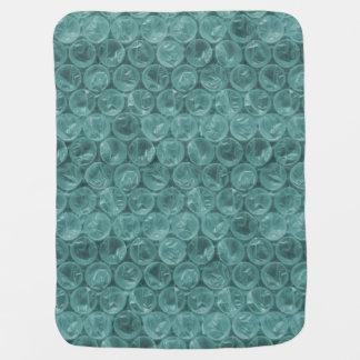 Plástico de burbujas de la turquesa mantitas para bebé