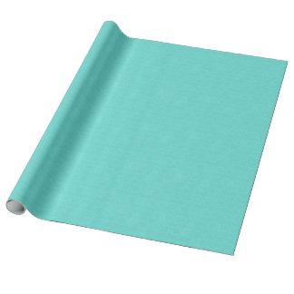 Plástico de burbujas del azul de la aguamarina papel de regalo