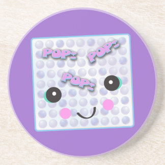 Plástico de burbujas lindo de Kawaii Posavasos De Arenisca