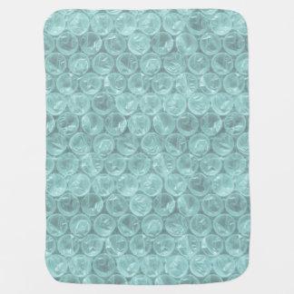 Plástico de burbujas pálido de la turquesa mantita para bebé