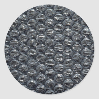 Plástico de burbujas pegatina redonda
