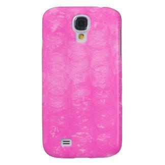Plástico de burbujas plástico rosado carcasa para galaxy s4