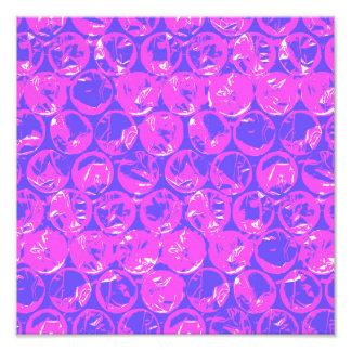 Plástico de burbujas púrpura del arte pop cojinete