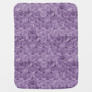 Plástico de burbujas púrpura mantita para bebé