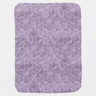 Plástico de burbujas púrpura pálido manta de bebé