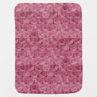 Plástico de burbujas rosado mantas de bebé