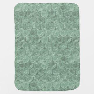 Plástico de burbujas verde mantas de bebé