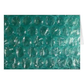 Plástico de burbujas verde tarjeta de felicitación
