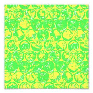 Plástico de burbujas verde y amarillo del arte pop fotografías